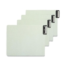 Smead 61635 Gray/Green 100% Recycled Extra Wide End Tab Pressboard Guides with Vertical Metal Tab, Blank - 12.75