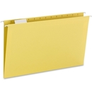 Smead 64169 Yellow Colored Hanging Folders with Tabs, Legal - 8.50