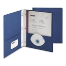 Smead 88054 Dark Blue Two-Pocket Heavyweight Folders with Tang Strip Style Fastener, 0.50