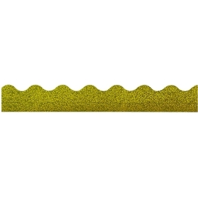 "Trend Sparkle Sunbeam Terrific Trimmers, Rectangle Topped With Waves - 2.25"" x 32.5"" - Paper - Yellow, Price/EA"