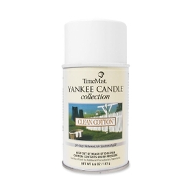 TimeMist Yankee Candle Air Freshener, Aerosol - 6000ft? - 6.6 oz - Clean Cotton - 30 Day, Price/EA