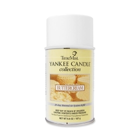 TimeMist Yankee Candle Air Freshener, Aerosol - 6000ft? - 6.6 oz - Butter Cream - 30 Day, Price/EA