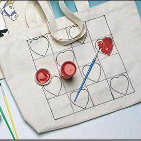Preprinted Tote Bag - Heart, Price/each
