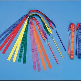 Multi Colored Ribbon Wands, Pack of 6, Price/per set