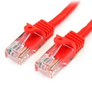 Startech 3 ft Red Snagless Cat5e UTP Patch Cable