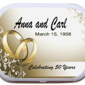 Anniversary Favors - Double Golden Rings Scroll Border