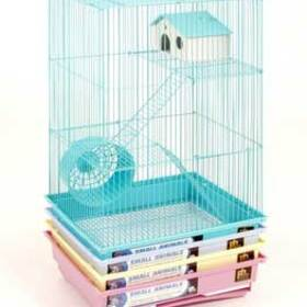 "3 Story Pastel Hamster Cage13 X 10 X 22"" (4pc)"