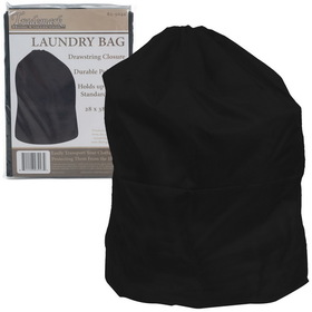 Heavy Duty Jumbo Sized Nylon Laundry Bag - Black