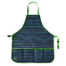 Ogrow OGAPKS-B High Quality Kids Garden Tool Apron With Adjustable Neck And Waist Belts - Blue Striped