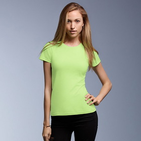 Anvil 379 Women's Semi-Sheer Crewneck Tee