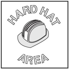 Seton 28900 Safety Stencils - Hard Hat Area, Price/Each