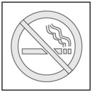 Seton Safety Stencils - No Smoking Symbol - 28901