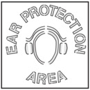 Seton Safety Stencils - Ear Protection Area - 28905