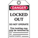 Seton 79829 Danger Lockout Tags- Locked Out Do Not Operate