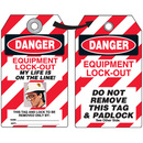 Seton Self-Laminating Employee Photo Lockout Tags- Danger Equipment Lock Out - 87510