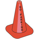 Seton 90390 Worded Traffic Cones - No Parking, Size: 18