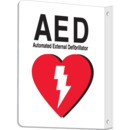 Seton 98099 2 Way View AED (Automated External Defibrillator) Signs, 7