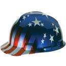 Msa BB534 MSA Freedom Series V-Gard Hard Caps, Color: Stars and Stripes Design