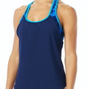 TYR TCAD7A Women's Solay 2 in 1 Tank - Cadet