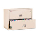 FIRE KING INTERNATIONAL FIR23822CPA Two-Drawer Lateral File, 37-1/2w X 22-1/8d, Ul Listed 350, Ltr/legal, Parchment