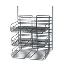 SAFCO PRODUCTS SAF4150CH Panelmate Triple-Tray Organizer, 13 1/2 X 17 1/4, Charcoal Gray