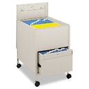 SAFCO PRODUCTS SAF5365PT Locking Mobile Tub File With Drawer, Legal Size, 20w X 25 1/2d X 27 3/4h, Putty