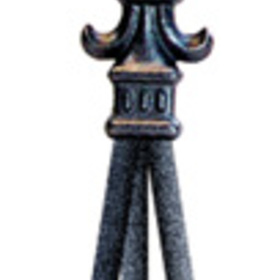 Village Wrought Iron  NTR-121  Fleur-De-Lis Natural Tripod, Price/Each