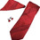 Polka Red Tie, Cufflinks and Pocket Square Gift Set