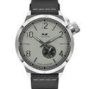 Vestal CNT3L03 Canteen Italian Leather Watch - Black/Silver/Marine