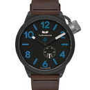 Vestal CNT3L08 Canteen Italian Leather Watch - Dark Brown/Black/Blue