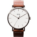 Vestal SPH3L02 The Sophisticate Watch - Brown/Silver/White/Italian Leather/Swiss Jewel Movement