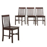 Walker Edison CHWN4ES Solid Wood Dining Chairs - Espresso (Set of 4)