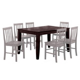 "Walker Edison TW60SES 60"" Solid Wood Dining Table - Espresso (Price/Each)"