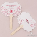 Weddingstar French Whimsy Hand Fan with Decorative Shape