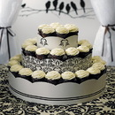 Weddingstar 9149 Grand Display Tower for Cupcakes - Love Bird Damask