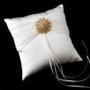 Elegance by Carbonneau RP-11-Brooch-3179-G-Clear Ring Pillow 11 with Silver Clear Sun Brooch 3179
