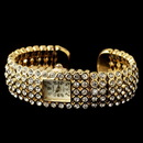 Elegance by Carbonneau Watch-23-G-CL Gold Clear Round Rhinestone Watch 23