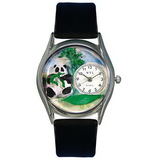 Whimsical Watches Panda Bear Silver Watch