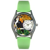 Whimsical Watches Toucan Silver Watch