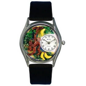 Whimsical Watches Monkey Silver Watch