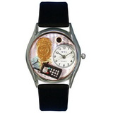 Whimsical Watches Police Officer Silver Watch
