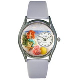 Whimsical Watches Mermaid Silver Watch