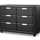 Baxton Studio Pageant Faux Leather Upholstered Dresser
