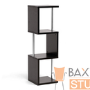 Baxton Studio FP-3Tier-Display Lindy Dark Brown Modern Display Shelf (3-Tier)