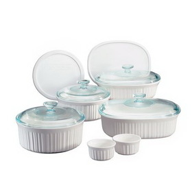 CORNINGWARE 1054321 French White 12-pc Gift Set