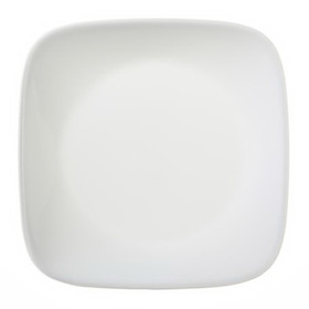 "CORELLE 1075553 Square Pure White 6-1/2"" Bread & Butter Plate"
