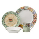 CORELLE 1088604 Livingware Watercolors 16-pc Dinnerware Set