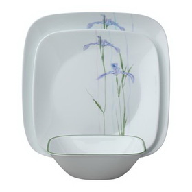CORELLE 1088645 Square Shadow Iris 18-pc Set