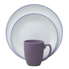 CORELLE 1089071 Livingware Moonglow 16-pc Dinnerware Set