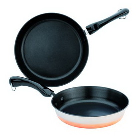 REVERE 1095381 Copper Bottom Non-Stick Skillet Set
